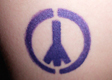 Peace Sign Airbrush Tattoo