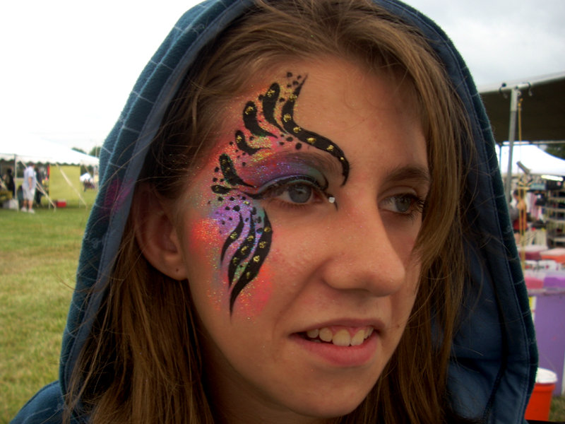 Face Painting Rainbow Designs Rainbow Abstract Face Painting