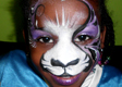 Purple Tiger Face Painting