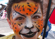 Cheetah Face Painting